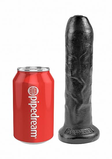 Image of 7 inch onbesneden Dildo op zuigvoet zwart