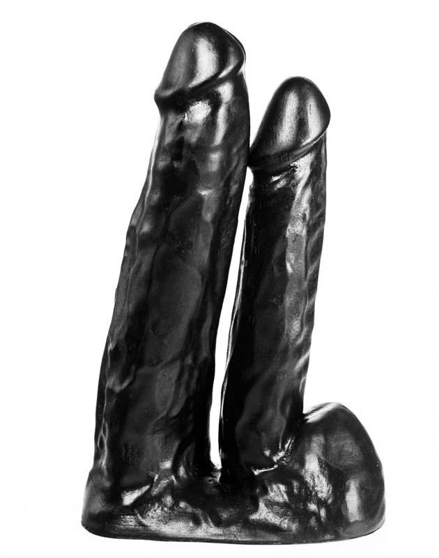 Image of 515 Line Dubbele dildo met zuigvoet zwart