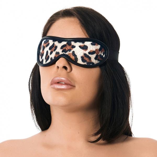 Image of Leren oogmasker Luxe - Luipaard